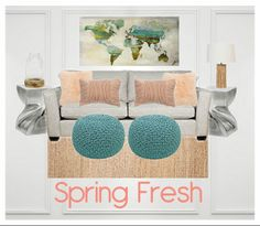 A Fresh room for Spring - All items from urbanbarn.com