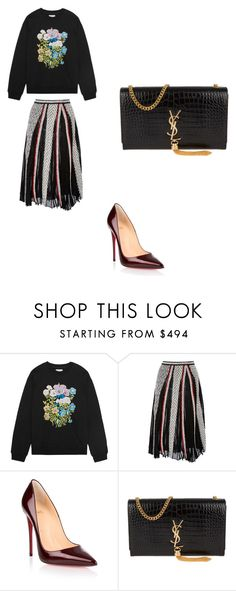 """""""Love style"""" by phamthuquynh on Polyvore featuring Christopher Kane, Emilio Pucci, Christian Louboutin and Yves Saint Laurent"""