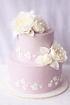 Lilac wedding cake.