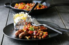 Salsa med chorizo og kikerter