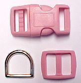 Dog Collar Buckles, Snap Hooks, Metal D Rings, Nylon Webbing and Kits for Collars
