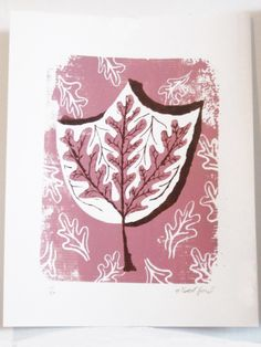 Pink Leaf Print by Gilbert Ford on Little Paper Planes