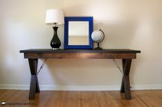 DIY X-Desk - Alter the dimensions to make a dining table