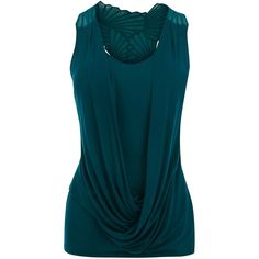 Karen Millen Cutwork Tank ($34) ❤ liked on Polyvore featuring tops, shirts, tank tops, blusas, embroidered shirts, teal top, blue top, rayon tank tops and viscose shirt