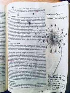 Elijah 19 God spoke in a gentle whisper Bible Journaling
