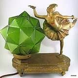 Antique-French-Art-Deco-Ballerina-Dancer-Lamp-Star-Glass-Shade-Bronzed ...