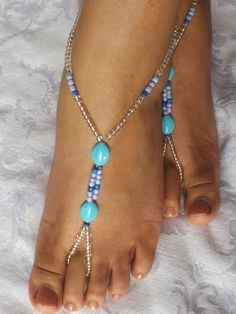 Barefoot sandals Foot jewelry Anklet by SubtleExpressions on Etsy, $15.00