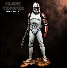 54mm Clone trooper,unpainted unassembled mini toy model miniature figure kit #Unbranded