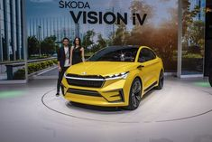2019 Škoda Vision iV Concept - Geneva Motor Show * A&T Design Volkswagen Group, Geneva Motor Show, Transportation Design, Electric Motor, High Level, Concept Cars, Sporty, Autos, Cutaway
