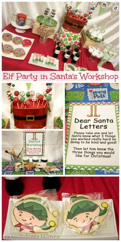 Elf Party in Santa's Workshop by MomsAndMunchkins.ca #Christmas #Party