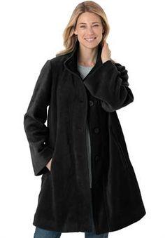Jacket, swing style, in cozy fleece | Plus Size Lightweight Jackets & Rain Coats | OneStopPlus  -  lj