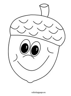 Black and White Acorn Halloween Crafts For Toddlers, Autumn Activities For Kids, Fall Preschool, Toddler Crafts, Preschool Activities, Crafts For Kids, Fall Leaves Coloring Pages, Cute Coloring Pages, Coloring Books