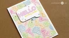 "Hello! Today I wanted to show how you can do ""back stamping""… by stamping with the back of a clear stamp. I also am part of a fun hop with giveaways!  [All supplies are linked to multiple sources in t"