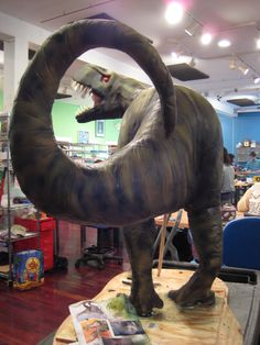 T-Rex by Charm City Cakes - This is the monster of the dinosaur cake world, the tyrannosaurus rex sculpted cake!