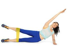 The Side Leg Lift and Reach targets your lower body and your abs.
