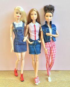 561 отметок «Нравится», 13 комментариев — Emily Polak (@emilypm3) в Instagram: «Dolls in denim #barbiemadetomove #madetomovebarbie #madetomove #barbiefashionista #barbiedoll…»