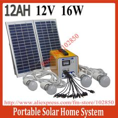 16W/12AH/12V DC Portable Solar Power System,Solar power slution kits for home use,built in controller-in Solar Energy Systems from Electrical Equipment & Supplies on Aliexpress.com