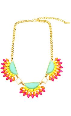 Half Moon Necklace! https://belleboutiquenwa.com/accessories/jewelry/half-round-oval-necklace.html #statementnecklace #xoxoBelle #trendy #neonnecklace