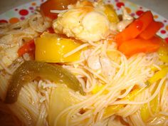 Mancare asiatica cu pui si ardei - Bucataria cu noroc Oriental, Exotic Food, Spaghetti, Chicken, Ethnic Recipes, Noodle, Cubs