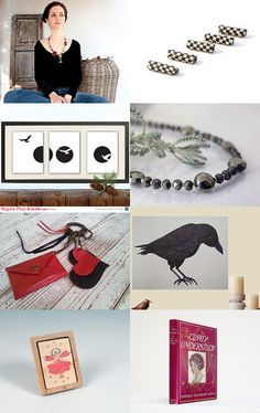 Black and Red  by mira (pinki) krispil on Etsy--Pinned with TreasuryPin.com