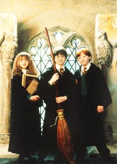 Harry Potter, Ron Weasley and Hermione Granger, little kids, art inspiration