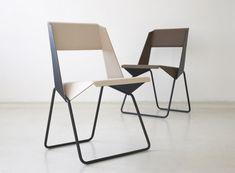 Elegant stackable chair design.