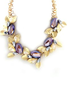 Crystal Olive Statement Necklace