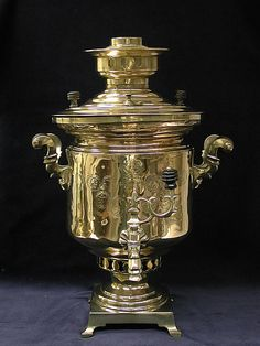 Samovar, what an elegant little sentinel, ready to prepare a nice cup of tea.