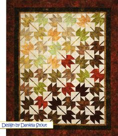 PATTERN:  Fall LEAVES Fall  Fat Quarter Friendly  by by WeDoQuilts