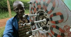 Scrap materials are being used to create #wind power generators in Africa!