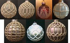 Ravelry: 7 Christmas Ball Covers pattern by Priscilla Hewitt