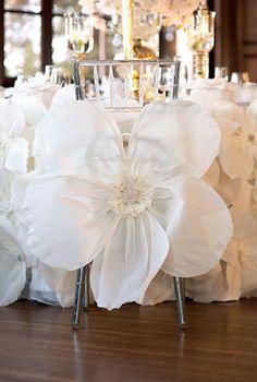 Oversized White Flowers: