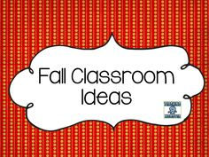 Fall and Autumn classroom ideas, lessons, crafts, and activities for the elementary classroom.  Teaching Momster