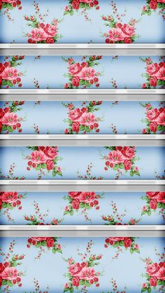 iPhone cath kidston inspired wallpaper with rows