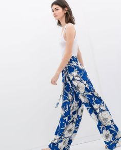 ZARA - WOMAN - LOOSE FIT PRINTED TROUSERS