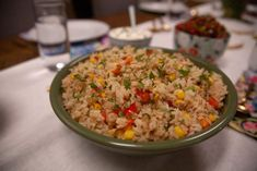 Get Confetti Rice Recipe from martina mcbride Top Recipes, Rice Recipes, Side Dish Recipes, Pasta Recipes, Mexican Food Recipes, Dinner Recipes, Cooking Recipes, Ethnic Recipes, Dinner Ideas