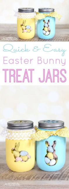 Quick & Easy Easter Bunny Treat Jars by iris-flower