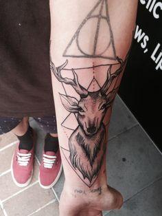 Deer Tattoo On Forearm