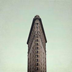 New York Print, Flatiron Building, Mint Green, Brown, Gray, New York City Print, Art Deco, Architecture