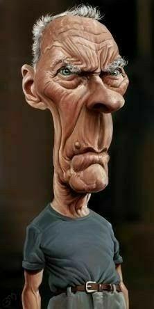 Cartoon People, Cartoon Faces, Funny Faces, Cartoon Art, Clint Eastwood, Caricature Artist, Caricature Drawing, Funny Caricatures, Celebrity Caricatures