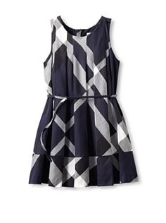 Burberry Kid's Dress (Navy Check)