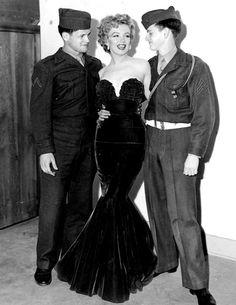 Marilyn Monroe at Camp Pendleton, 1952.