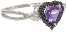 10k White Gold Heart Shaped Amethyst with Round Black and White Diamond Ring, Size 5 Amazon Curated Collection,http://www.amazon.com/dp/B002QB1RWG/ref=cm_sw_r_pi_dp_eMECtb16RFB06H2J