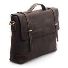 "Neo Handmade Leather Bags | Neo Leather Bags — Vintage Handmade Genuine Crazy Horse Leather Briefcase Messenger 14"" Laptop / 15"" MacBook Bag (n362)"