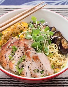"""One of our favorites! In this seasonal take on a Japanese standard, we're serving up a delicious version of yakibuta ramen. Yakibuta (Japanese for """"roast pork"""") is a classic preparation similar to char siu, a Cantonese-style Chinese dish."""