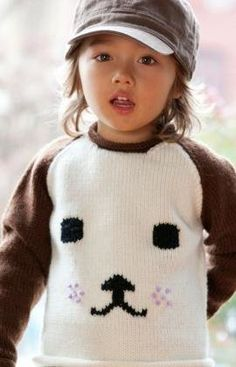 Free Knitting Pattern - Toddler & Children's Clothes: Dog-Eared Sweater