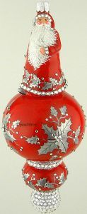 Patricia Breen Charming Red W/ Silver Holly 2015