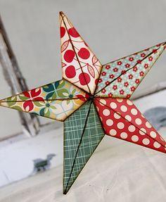 8 in cherries jubilee barn star by LilMissCraftyPants on Etsy