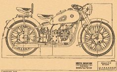 The blueprint from the Original M72 Soviet designed machine.