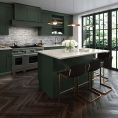 Green or Blue Kitchen designed by @elnaznamaki_interiors...what do you think? Choose wisely Elnaz!? Kitchen to be finished January 2018, CGI's assisting design. #architecture #interiordesign #constructionmaison #instakitchen #kitchenofinstagram #greenkitchen #interiorluxury #propertydevelopment #rbkc #interiorluxury #interiorstyling #kitchendesign #kitcheninspo #sohohouse #sohohome #cgi
